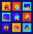 set of woman fashion women bag vector image
