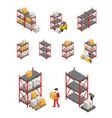 Storage Racks Set vector image