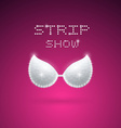 Triangular Shining Bra vector image