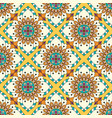 mandala texture in bright colors seamless pattern vector image