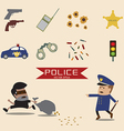 set of police element vector image