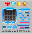 game interface buttons and items ui set vector image vector image