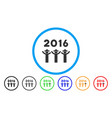 2016 guys dance rounded icon vector image