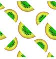 kiwi slices seamless pattern vector image