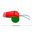 Red and Green Stripe on Belarus Whistle vector image
