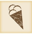 Grungy ice cream icon vector image