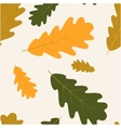 seamless with autumn oak leaves vector image