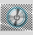 mac power button vector image vector image