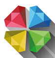 Diamonds Flat vector image vector image