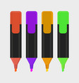 highlighter pen isolated icon vector image