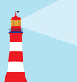 Lighthouse light vector image