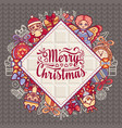 merry christmas toys greeting card vector image