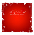 New Year or Christmas red background vector image