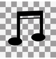 Note Icon on a transparent vector image