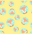 scandinavian seamless pattern with foxes vector image