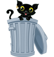 Stray Black Cat vector image