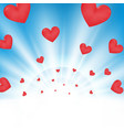 valentine day of sunburst light effect on clean vector image