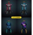 Realistic cycling uniforms Branding mockup vector image