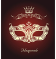 Mask of lace vector image