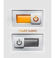 power sliders modern icons vector image vector image