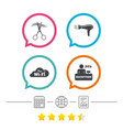 hotel services icon wi-fi hairdryer vector image