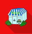 supermarket icon in flate style isolated on white vector image