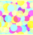 multicolor seamless circle pattern vector image