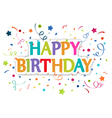 Happy birthday greetings vector image