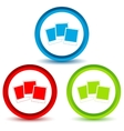 Photo icons set vector image
