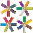 color crayons vector image