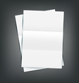 Two Empty Paper Sheet vector image vector image