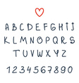Alphabet Hand drawn letters Font vector image