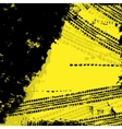 Tire track yellow background vector image