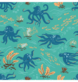 Octopus seamless vector image vector image