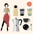 coffee mock up vector image vector image