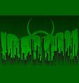 bio hazard disaster vector image