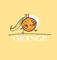 cute king orange cartoon character of mascot fruit vector image