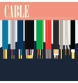 Electric Cable Wire vector image
