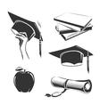 elements for vintage graduation labels vector image