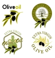 Extra virgin olive oil labels vector image