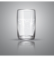 Glass with transparent liquid and bubbles vector image