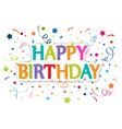 Happy birthday greetings vector image