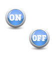 icon seton and off button for control panel vector image