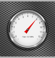 manometer round gauge with metal frame on vector image