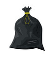 plastic garbage bag with rope icon vector image