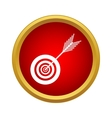 Target and arrow icon in simple style vector image