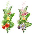 vertical tropical banners vector image