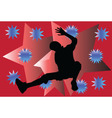 breakdance with background - vector image