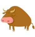 cartoon bull farm animal vector image vector image