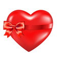 Red Heart With Red Bow vector image vector image